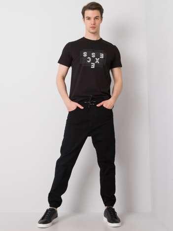 Czarne spodnie joggery męskie Braxton
