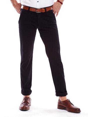 Czarne spodnie męskie regular