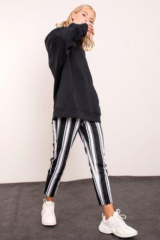 Czarne spodnie w pasy BSL