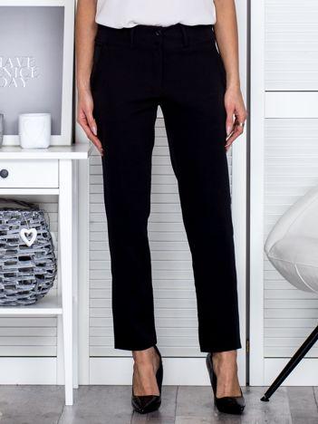 Czarne spodnie z kieszeniami