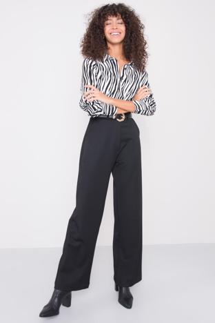 Czarne szerokie spodnie BSL