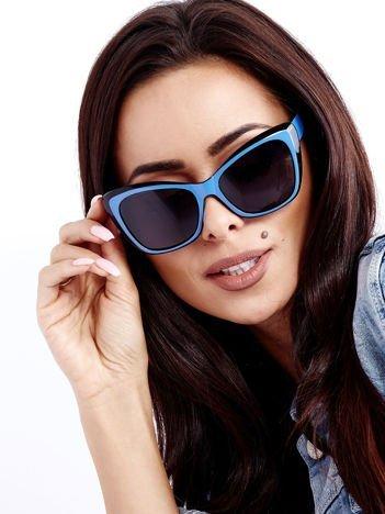 Czarno-Niebieskie Damskie Okulary POLARYZACYJNE