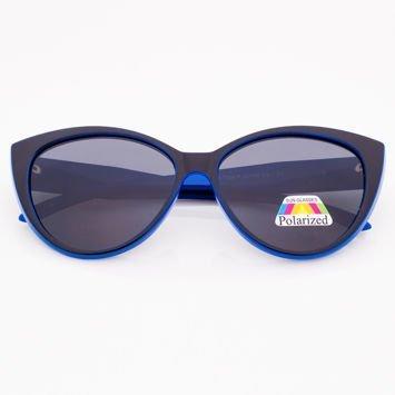 Czarno-Niebieskie Damskie Okulary POLARYZACYJNE CAT EYE
