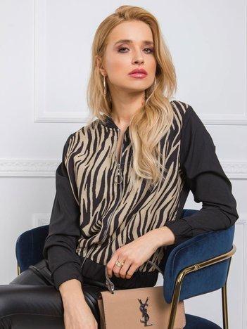 Czarno-beżowa bluza Cashmere RUE PARIS