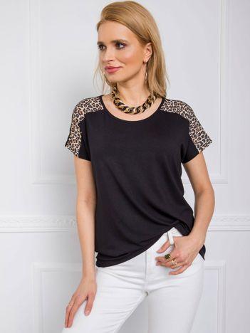 Czarno-beżowy t-shirt Miracle RUE PARIS