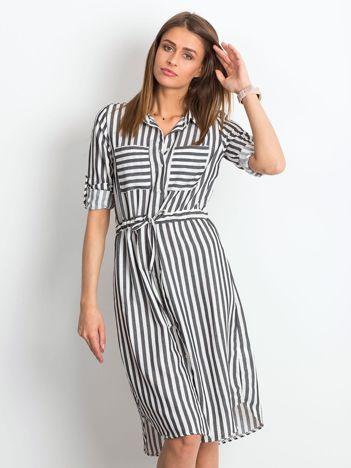 c709ce5612 Czarno-biała sukienka Attached