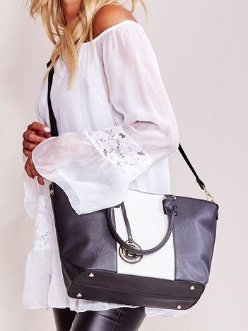 Czarno-biała torba shopper