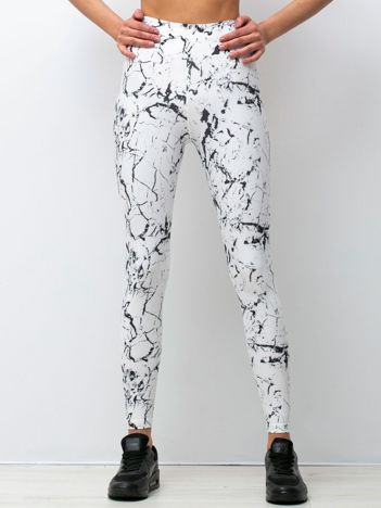 Czarno-białe legginsy Marbelous