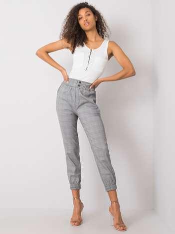 Czarno-białe spodnie w kratę Esperanza