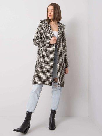 Czarno-biały płaszcz Esmee