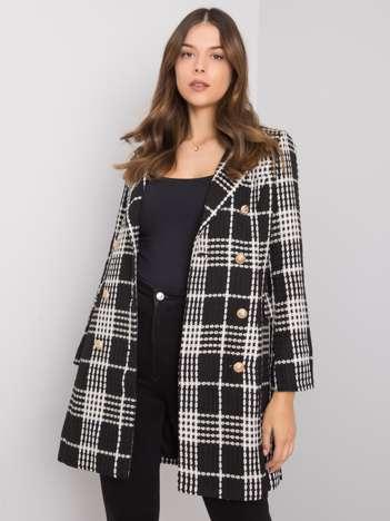 Czarno-biały płaszcz w kratę Peggy