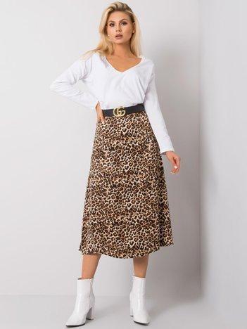 Czarno-brązowa spódnica Hally RUE PARIS