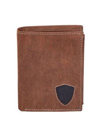 Czarno-brązowy portfel dla mężczyzny ze skóry