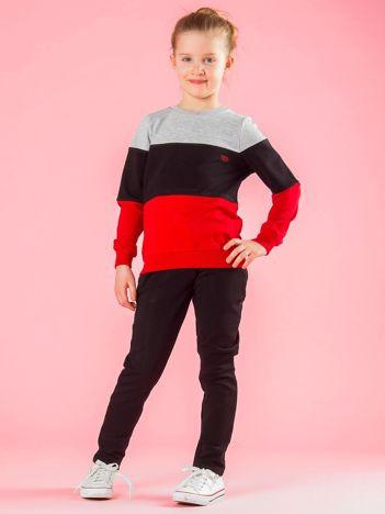 Czarno-czerwony komplet dziecięcy
