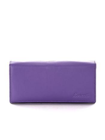 Czarno-fioletowy portfel damski