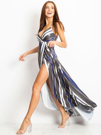 Czarno-niebieska sukienka Secret