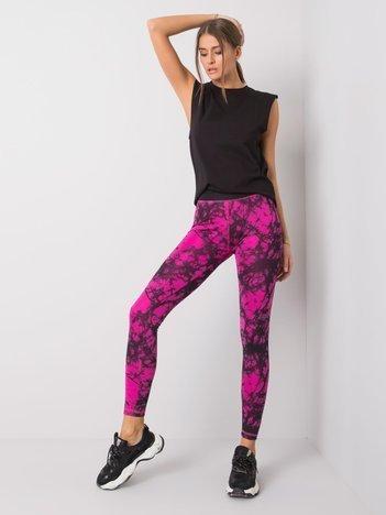 Czarno-różowe legginsy Mia FOR FITNESS