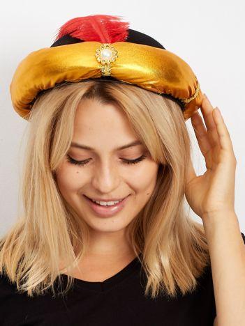 Czarno-złoty kapelusz perski