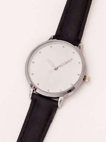 Czarny Damski Zegarek Z Dżetami