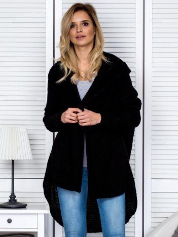 Czarny asymetryczny sweter oversize