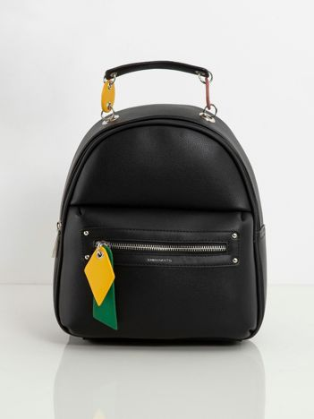 Czarny damski plecak