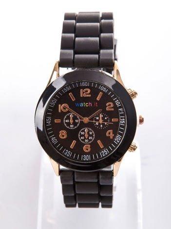 Czarny damski zegarek