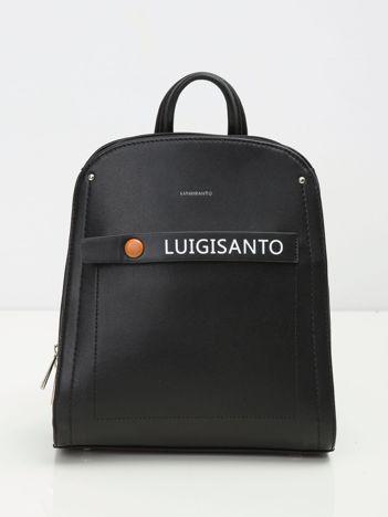 Czarny elegancki plecak z ekoskóry