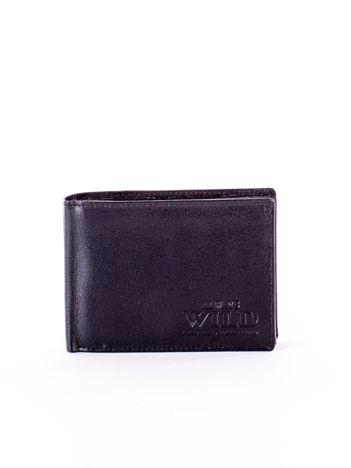 Czarny miękki portfel ze skóry naturalnej dla mężczyzny