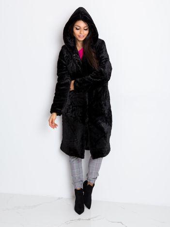 Czarny płaszcz Mallory