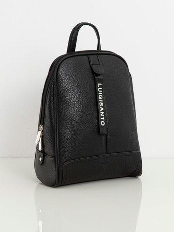 Czarny plecak damski z ozdobnym suwakiem