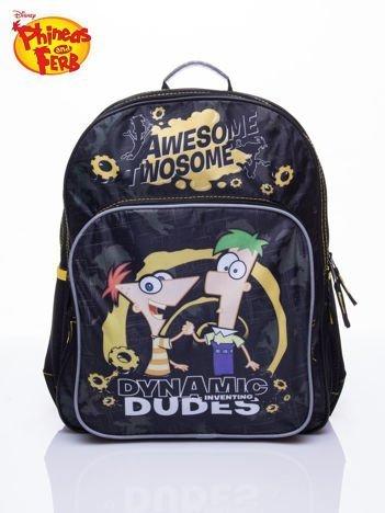 Czarny plecak szkolny DISNEY Fineasz i Ferb