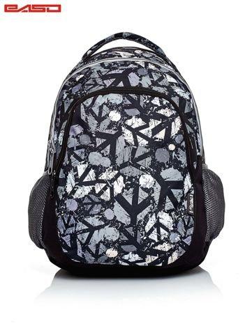 Czarny plecak szkolny z miejskim nadrukiem