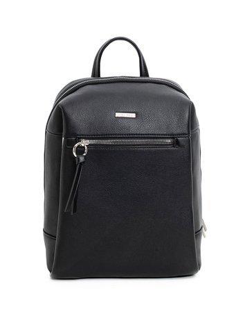 Czarny plecak z ekoskóry LUIGISANTO