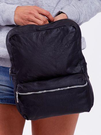 Czarny plecak ze skóry