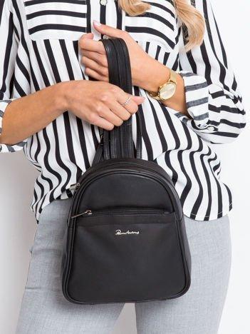 Czarny plecak ze skóry naturalnej