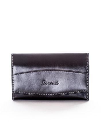 Czarny portfel damski skórzany
