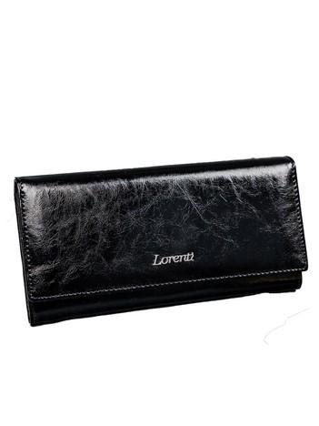 Czarny skórzany portfel damski