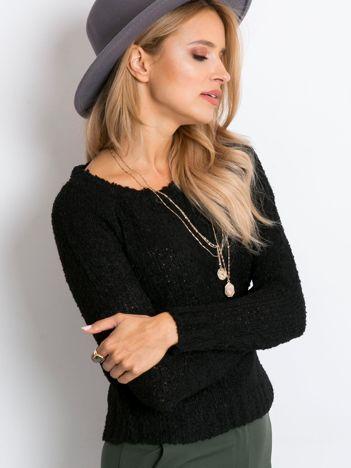 Czarny sweter Boucle
