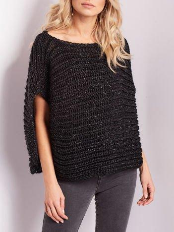 Czarny sweter kamizelka