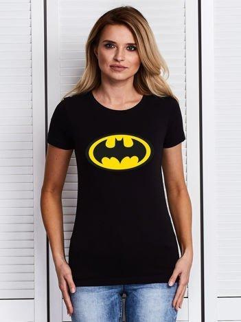 Czarny t-shirt BATMAN logo