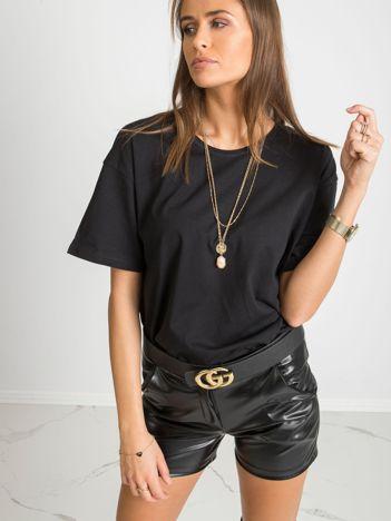 Czarny t-shirt Cute