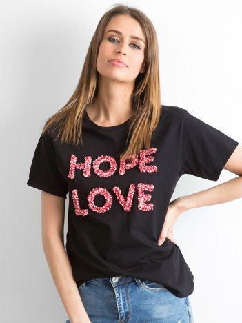 Czarny t-shirt Hoppin