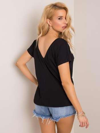 Czarny t-shirt Quatro RUE PARIS