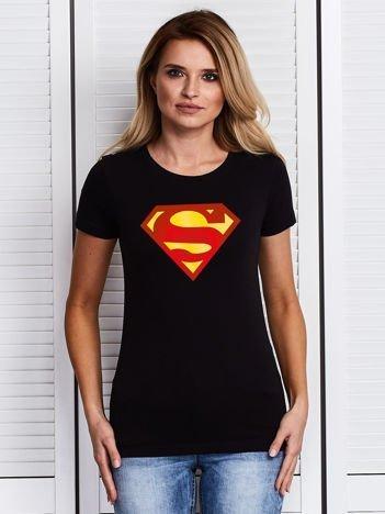 Czarny t-shirt SUPERMAN logo