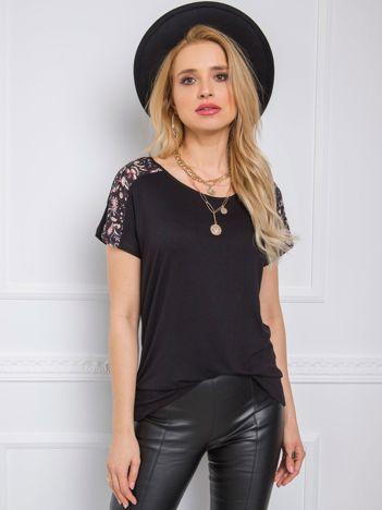 Czarny t-shirt Sierra RUE PARIS