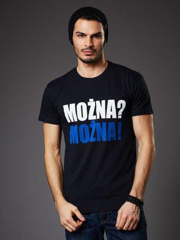 Czarny t-shirt męski MOŻNA? MOŻNA!