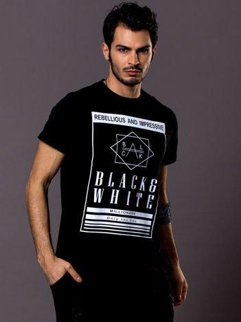 Czarny t-shirt męski Rebellious