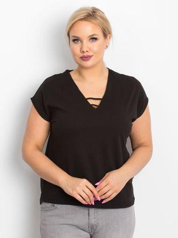 Czarny t-shirt plus size Darlyne