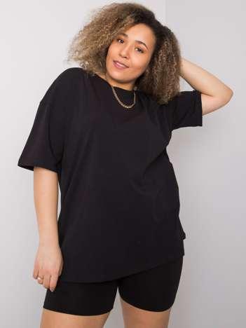 Czarny t-shirt plus size Gaia