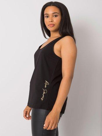 Czarny top plus size z bawełny Beitris RUE PARIS